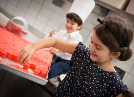 Kids making their own sweet treats in the kitchen