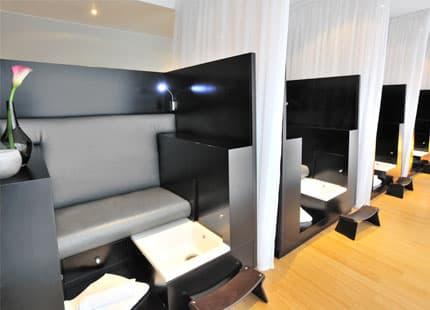 Treatment booths in Guerlain Spa